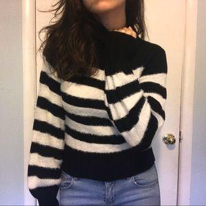 7th Avenue Striped Turtleneck Sweater